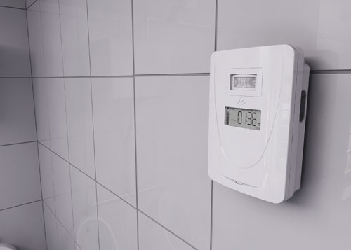 Air flow control unit on wall. Hygenie Birmingham UK
