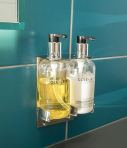 Bracket soap and hand lotion Hygenie Birmingham UK